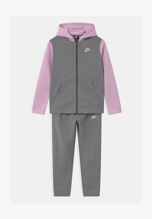 CORE SET  - Chándal - carbon heather/dark grey/arctic pink