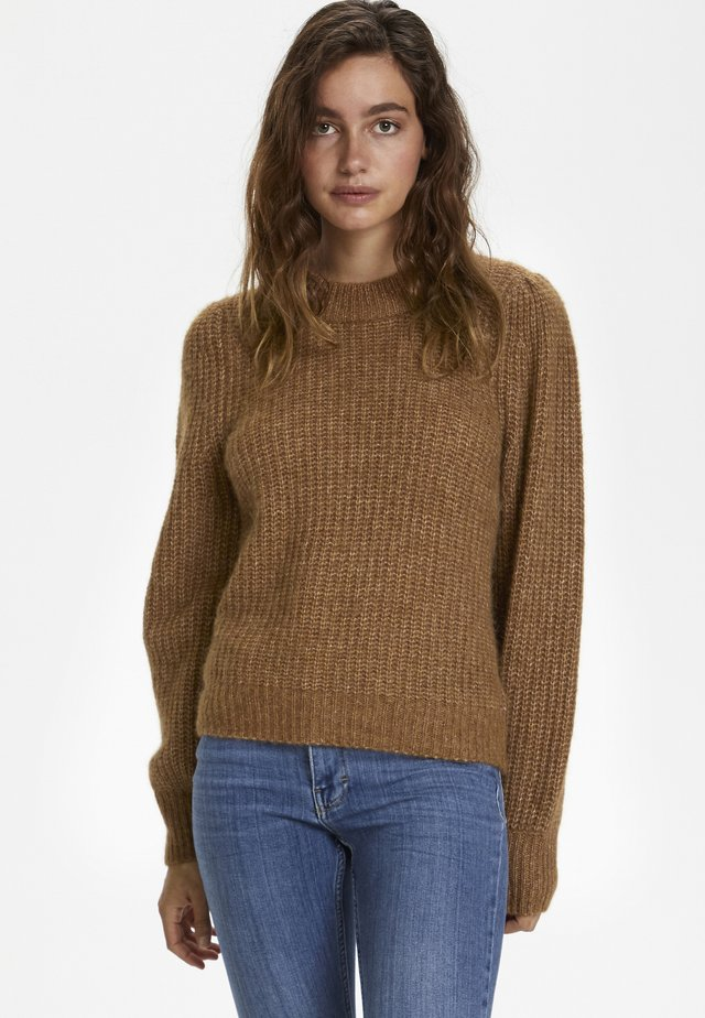 Jumper - hazel brown melange