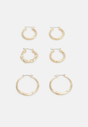 TWIST HOOP 3 PACK - Náušnice - gold-coloured