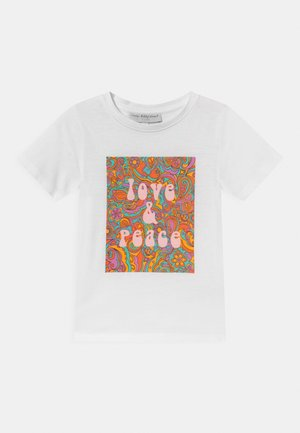 KIDS LOVE & PEACE TEE - T-shirt print - white
