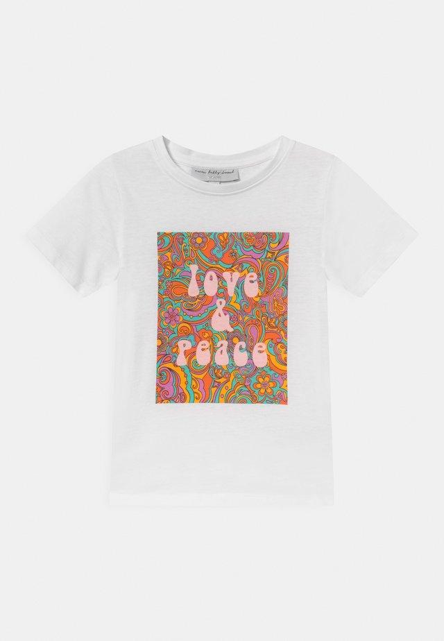 KIDS LOVE & PEACE TEE - Print T-shirt - white