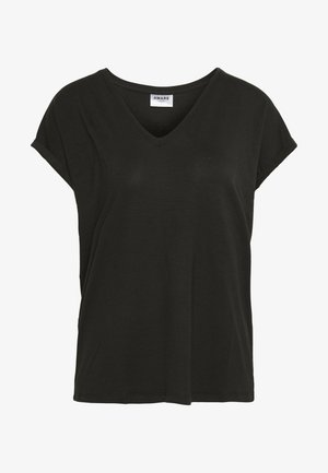 VMAVA V NECK TEE - Basic T-shirt - black