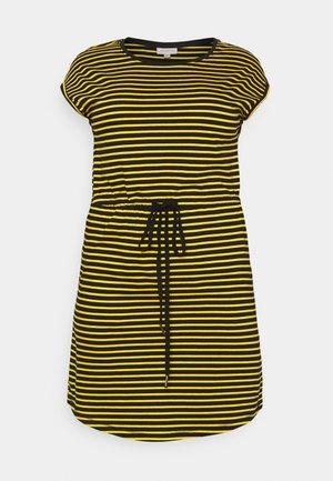 CARAPRIL KNEE DRESS STRIPE - Trikoomekko - black/double yolk yellow