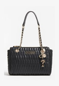 Guess - BRINKLEY GESTEPPT - Handbag - schwarz - 0