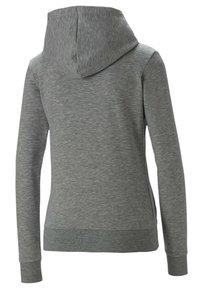 Puma - Sweat à capuche - light gray heather - 1