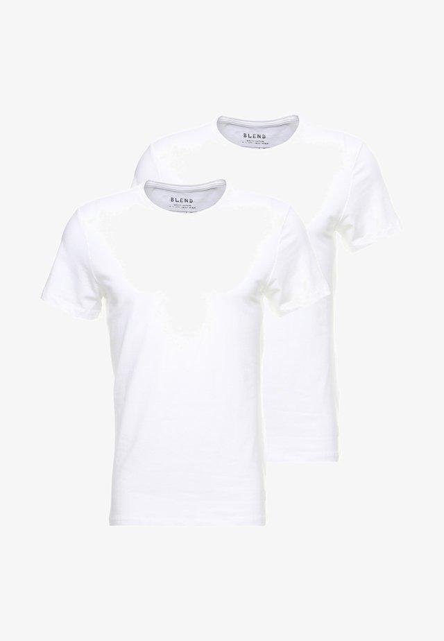 2-PACK - T-shirt basique - white