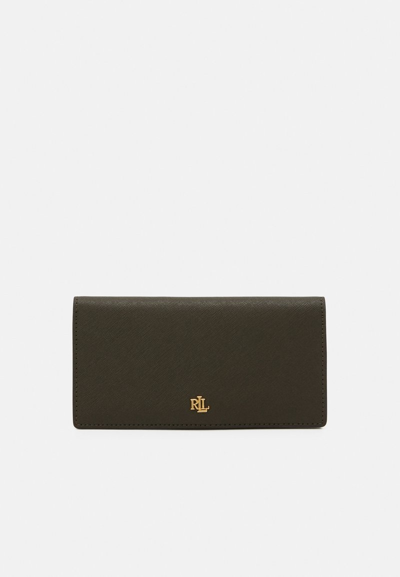 Lauren Ralph Lauren - SLIM WALLET MEDIUM - Lommebok - deep olive