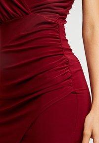 Missguided - SLINKY WRAP OVER MINI DRESS - Etuikjole - burgundy - 4