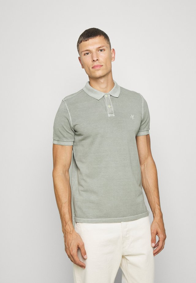 SHORT SLEEVE BUTTON PLACKET - Poloshirt - shadow