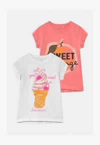 Name it - NKFVEEN 2 PACK - Print T-shirt - bright white - 0