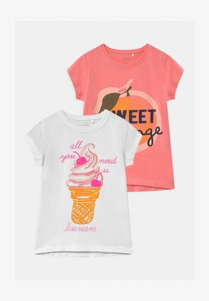 NKFVEEN 2 PACK - T-shirt print - bright white