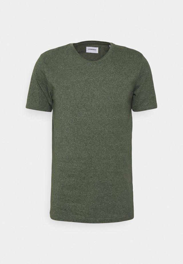 MOULINÉ O NECK TEE - T-shirt basic - dusty army mix