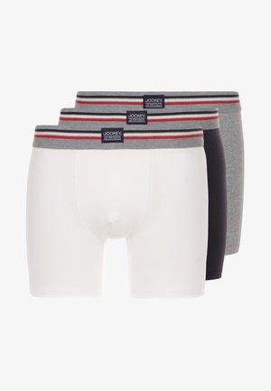 COTTON STRETCH LONG LEG TRUNK 3 PACK - Panties - black/white/grey