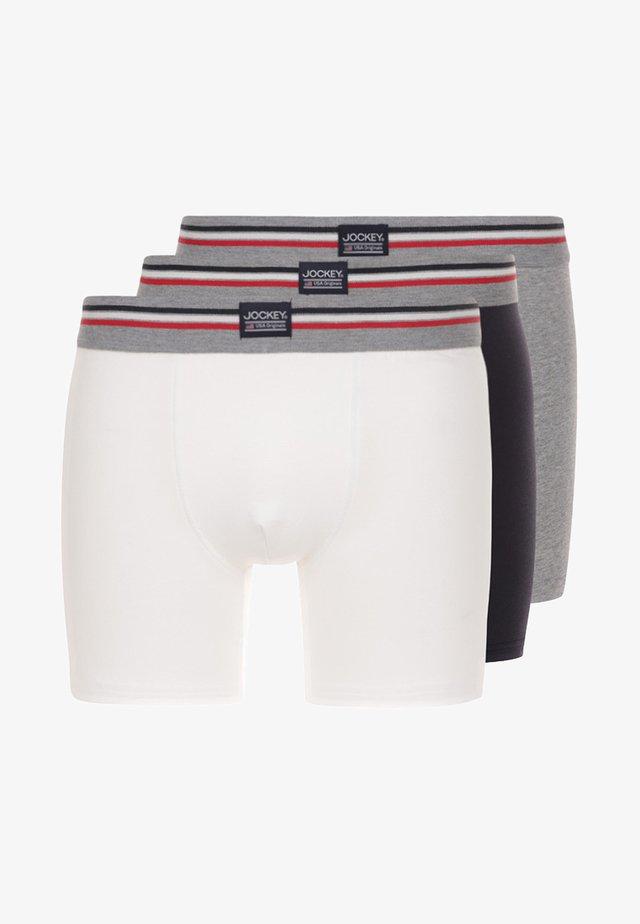 COTTON STRETCH LONG LEG TRUNK 3 PACK - Pants - black/white/grey