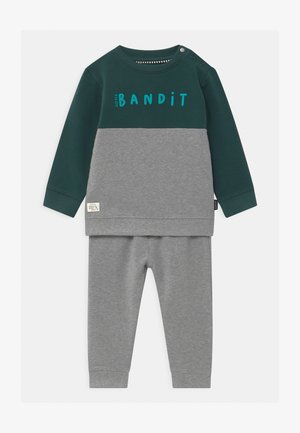 SET - Tracksuit - mottled grey/dark green