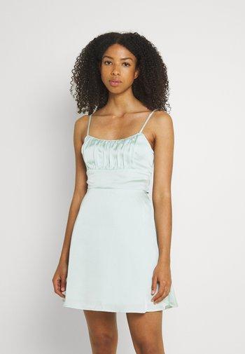 SUMMER SHORT DRESS - Kjole - green solid