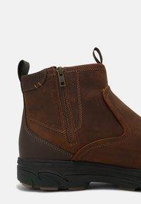Skechers - RESMENT KORVER - Classic ankle boots - dark brown - 6