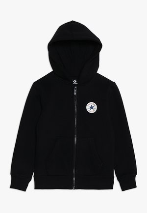 CHUCK PATCH FULL ZIP HOODIE  - veste en sweat zippée - black