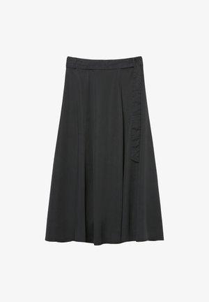 A-line skirt - dusty black