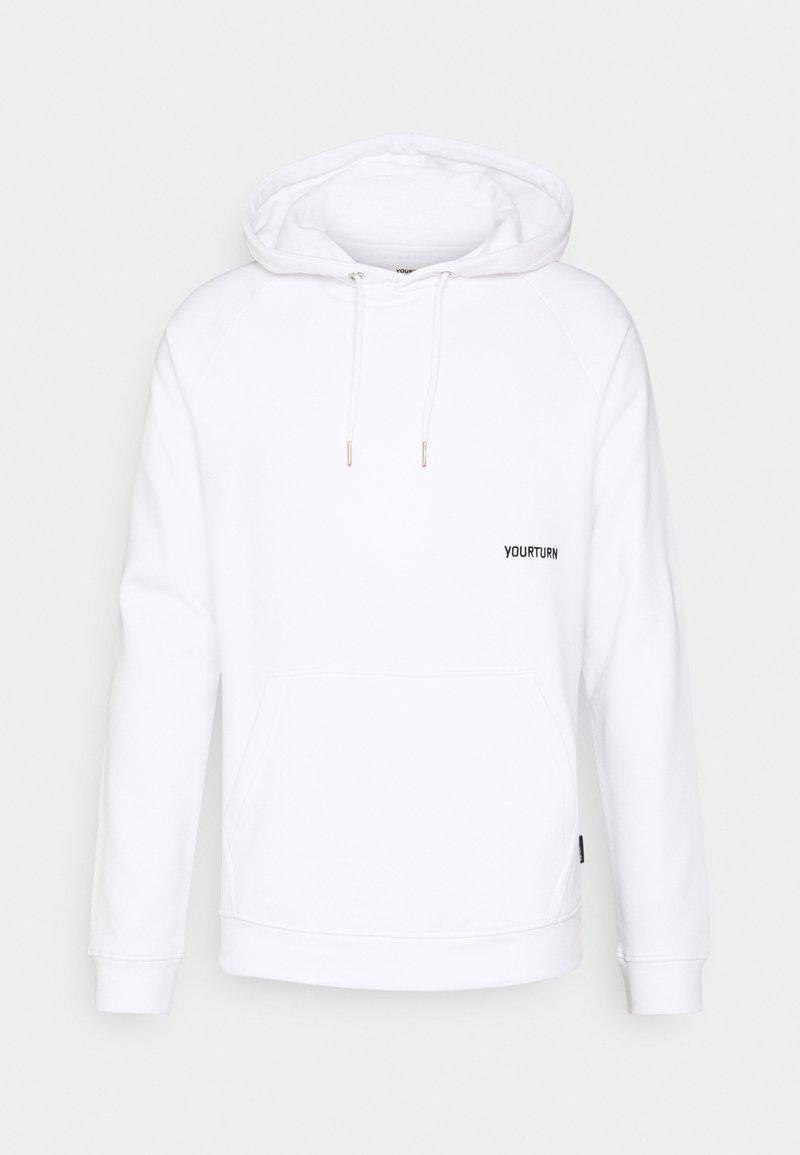 YOURTURN - UNISEX - Jersey con capucha - white