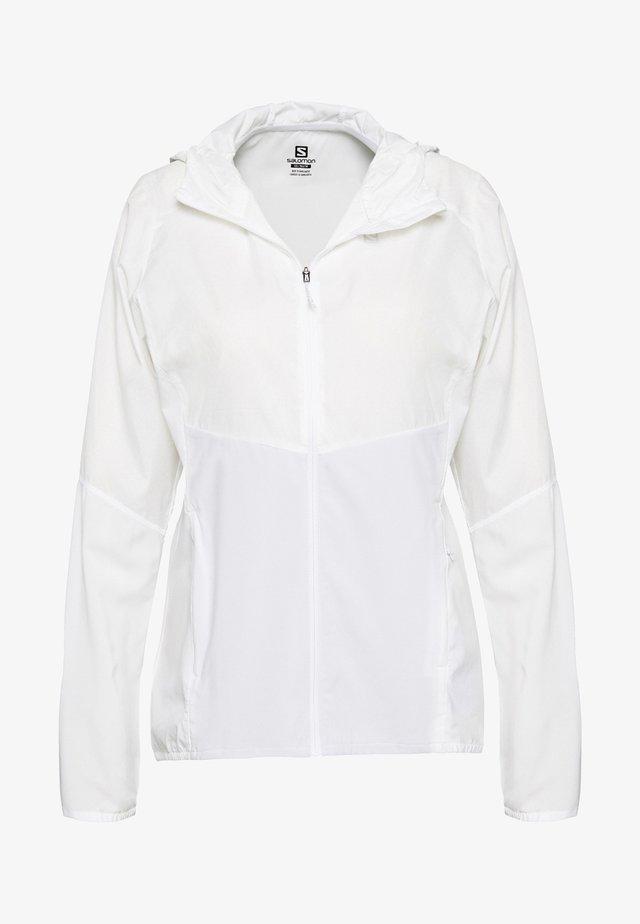 AGILE HOODIE - Sportovní bunda - white