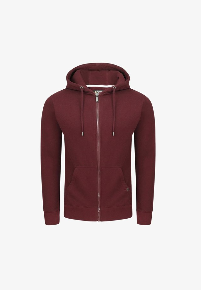 RIVNILS - Zip-up hoodie - port red