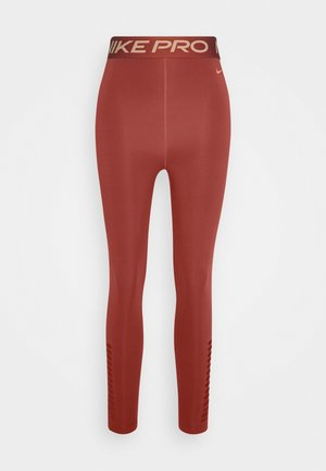 Tights - firewood orange/amber brown