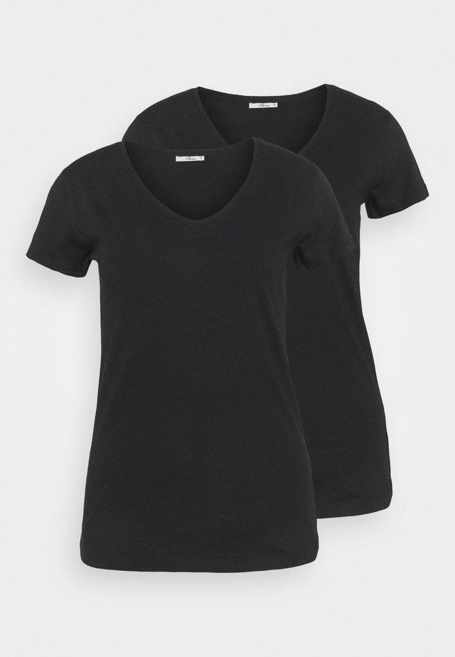 FASOMA2 PACK - Jednoduché triko - black