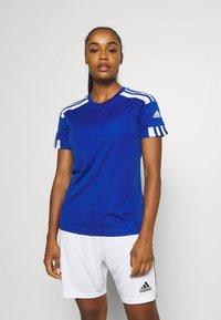 adidas Performance - SQUADRA 21 - T-shirts med print - royal blue/white - 0