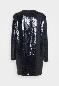 Victoria Victoria Beckham - SEQUIN OVERLAY MINI DRESS - Sukienka koktajlowa - midnight blue - 6