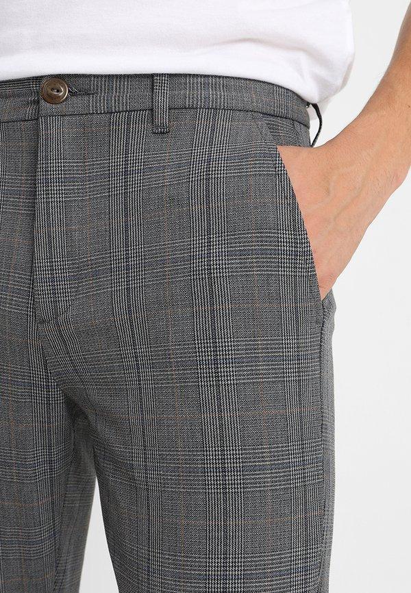Gabba PISA ENGLISH - Spodnie materiałowe - grey check/szary Odzież Męska HLRO