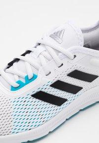 adidas Performance - ASWEETRAIN - Zapatillas de entrenamiento - footwear white/core black/signal cyan - 5