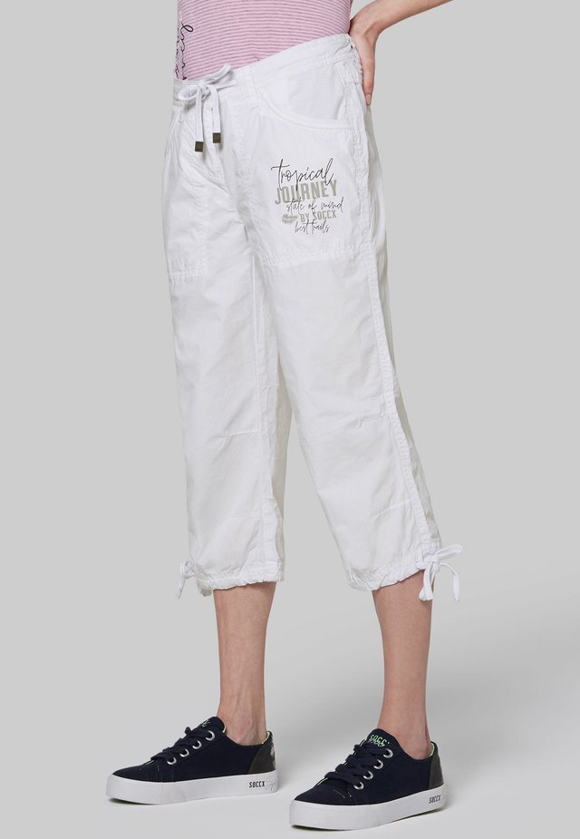 MIT LABEL PRINT - Trousers - opticwhite