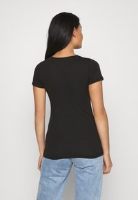 Tommy Jeans - ESSENTIAL LOGO TEE - Print T-shirt - black - 2
