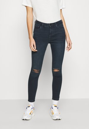 DOUBLE RIPPED KNEE DARCY - Slim fit jeans - blue/black