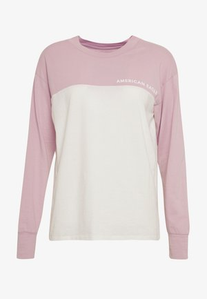 BRANDED COLORBLOCK URBAN TEE - Long sleeved top - lively lilac