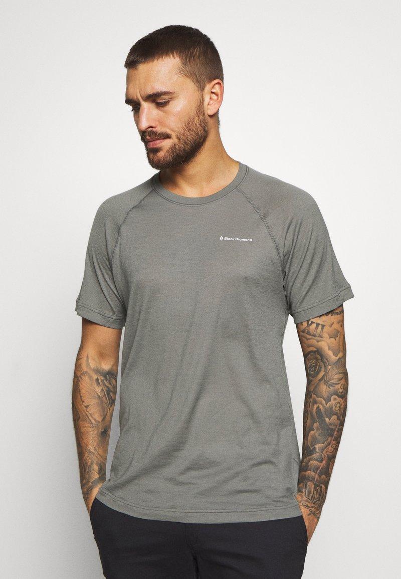 Black Diamond - RHYTHM TEE - Print T-shirt - nickel