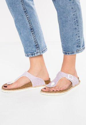 GIZEH - T-bar sandals - beach/light purple