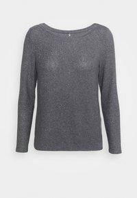 ONLY Petite - ONLKALA BOAT NECK  - Strikkegenser - medium grey melange - 4