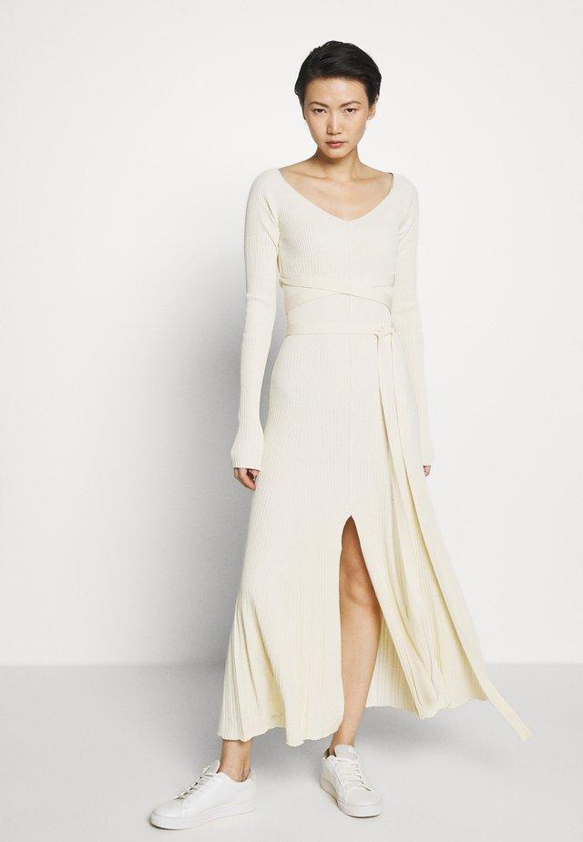 LONGSLEEVE DRESS - Maxi dress - off-white