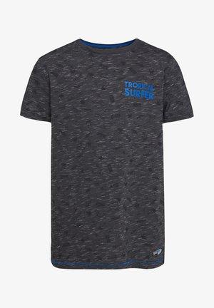 Print T-shirt - blended dark grey