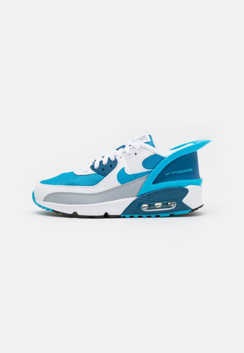 Nike Sportswear - AIR MAX 90 FLYEASE  UNISEX - Tenisky - white/laser blue/industrial blue