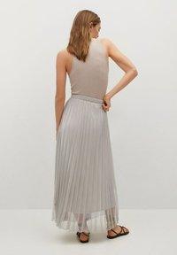 Mango - A-line skirt - silver - 2