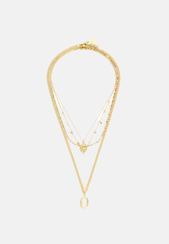 4 PACK - Necklace - gold-coloured