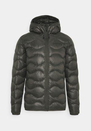 HELIUM HOOD JACKET - Down jacket - black olive