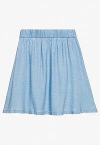 TOM TAILOR DENIM - FLARED SKIRT - Denim skirt - light stone bright blue denim - 1