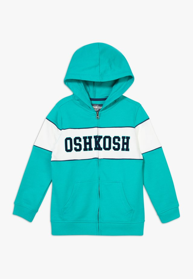 LAYERING - veste en sweat zippée - turquoise