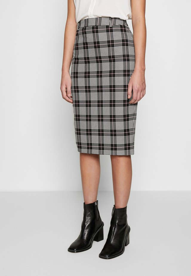 LIZ CHECK PENCIL SKIRT - Pencil skirt - multi/dark