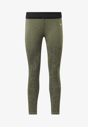 UNITED BY FITNESS MYOKNIT SEAMLESS 7/8 LEGGINGS - Leggings - green