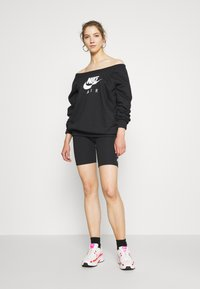 Nike Sportswear - AIR CREW  - Sweatshirt - black/white - 1
